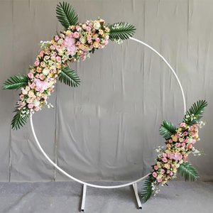 circle Wedding Arch Background Wrought Iron Shelf Decorative Props DIY Round Party Background Shelf Flower with