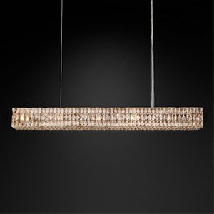Luxury design crystal suspension chandelier lighting living room Kitchen island hanging lamp crystal luminaire home decor Modern
