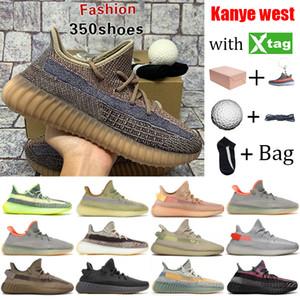 El tamaño grande Kanye West v2 para mujer para hombre zapatillas de deporte zapatillas de deporte se desvanecen reflectantes naturales crema estática negro de carbono gid entrenadores deportivos resplandor cebra