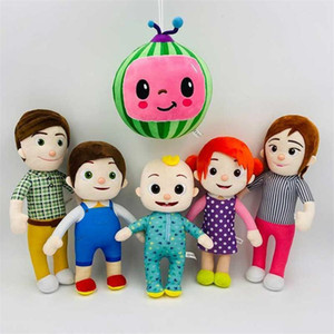 DHL Shipping 15-33cm Cocomelon Plush Toy Soft Cartoon Family Cocomelon Jj Family Sister Brother Mom And Dad Toy Dall Kids Chritmas Gifts