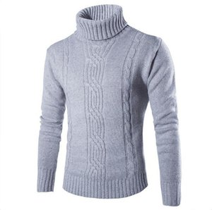 Mwxsd autumn and winter Men's Slim Fit pullover sweater Men Korean vertical striped Christmas sweater pull homme