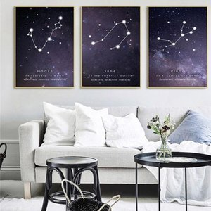12 Constellations Character Home Decor Nordic Canvas Painting Wall Art Modern Posters and Prints Minimalist Art for Living Room