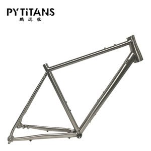 Популярные велосипедные рамки Titanium Alloy GR9 Titanium Gravel Bike рама с местом сиденья для дискового тормоза бесплатная запасная вешалка