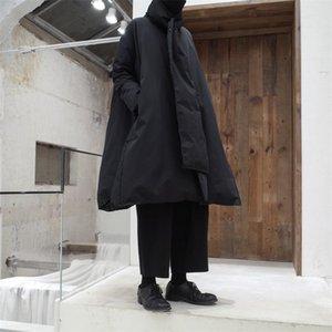 Kadın Aşağı Parkas 2021 Bahar Kış Sfashion Tand Yaka Uzun Kollu Siyah Büyük Boy Sıcak Pelerin Ceket Kadın Ceket Moda Gelgit