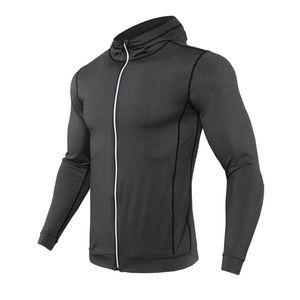 Winter Hooded Sport Jacket Men Fitness Jersey Tight Top Outdoor Soccer Gym Hoodie Windbreaker Quick Drying Running Sports Coat