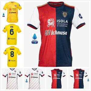20 21 21 Cagliari Calcio Soccer Jersey Home Youse Рубашка Rog Nandez Joao Pedro Футбол Джерси 2020 2021 Cagliari Pavoletti Godin Футболка