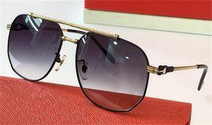 New Fashion Design Design Occhiali da sole 0298 Pilota Metallo Semplice cornice Best-Style Style UV400 Lente Occhiali Protezione Eyewear Stile Classic Quality Scud