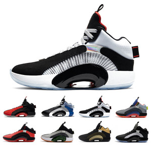 Retro 35 Bred DNA jumpman 35 chaussures de basket-ball pour hommes Fragment Sisterhood Bayou Boys Center of Gravity 35s formateurs pour hommes baskets de sport 7-12