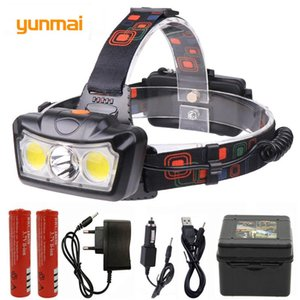 LED Headlight Head Lamp waterproof Power Torch fishing Headlamp Lanterna head light Use 2*18650 battery for Camping