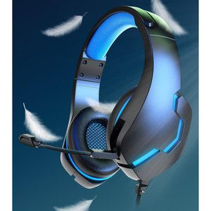 J10 3.5mm Gaming Headset w LED Light, Deep bass Stereo Gaming Headphones with Noise Cancelling Mic for PC Laptop