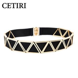 أحزمة CETIRI الموضة الذهبي الخصر نسائية حزب المعدنية على نطاق واسع عالية الجودة حزام فاخر مصمم السيدات مطاطا حزام للفستان