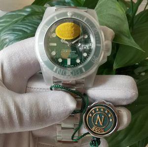 2 colori nero verde ceramica BELLEL N Factory V11 Versione VERSIONE DIVING 904L acciaio cal. 3135 Immersione automatica del movimento con ammortizzatore KIF