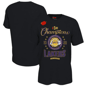 Мужчины ЛосАнджелесЛейкерсBlack 2020NBAФиналы чемпионов Раздевалка T-Shirt