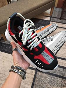 Versace shoes Italiana Croix Chainer Chaussures Homme zapatillas de Porte-Designer Blanc Rouge impresión épais Bas extérieur Zapatos Casual Taille