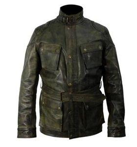 Vestes de rétro PU Mens Designer Plus Taille Stand Collier Slim Zamper Manteaux Mode Casual Hommes Veste d'hiver