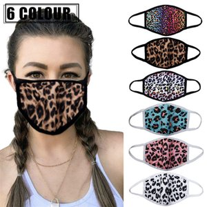 Fashion Leopard Face Masks 3D Printing Design Mouth Masks Windproof Dustproof Face Mask Reusable Adults Protective Face Mouth Cover 2020 INS