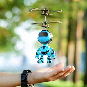Robot induction aircraft floating toys charging lights night market stalls selling toughness safety novelty toys children's toys