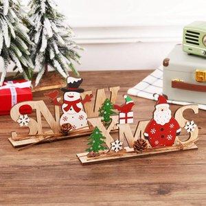 Noel Süsler Merry Christmas Ahşap Dekor Ev için 2021 Navidad Cristmas Süslemeleri Noel Hediyeler Yeni Yıl AHA3112