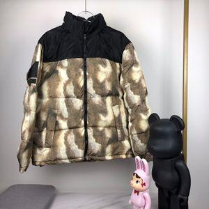 13FW Down Jacket Fur Print Nuptse 700 Embroidery Coats Couple Coat Winter Warm Outerwear Fashion Men Women highstreet HFLSYRF090