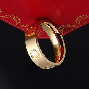 Gold Designer Ring for women Men Zirconia Engagement Titanium Steel Wedding Rings Silver jewelry Gifts Fashion Accessories Hot no box