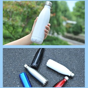 Double Walled 500ml Stainless Steel Coke Shape Water Cola Shaped Bottles Vacuum Insulated Outdoor Travel Water Bottle sea ship GWE2611