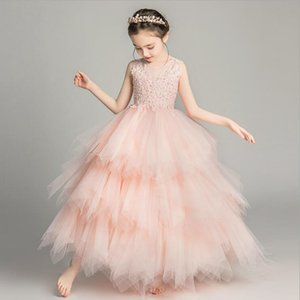 Elegant Formal Dress Girls Clothing Flower Girls Wedding Evening Clothes Kids Dresses for Girls Princess Party Long Gown 3-14yrs 201020
