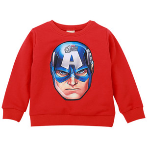 Spring Childrens Clothing Children Sweater Korean Cartoon Boys Casual round Neck All-Matching Thick Sweater Children