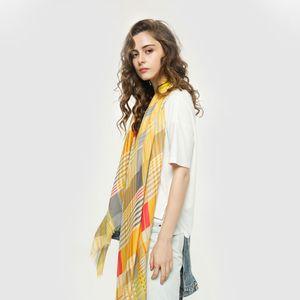 High quality color plaid print scarf brand designer scarf ladies long scarf shawl wrapped 180x90cm high-end ladies shawl to send the box