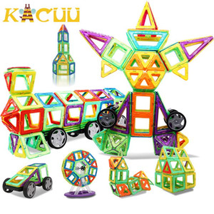 Kacuu Magnetische Bausteine DIY Bau-Spielzeug für Kind-Geschenk Zubehör Constructor Designer Magnent Modell Lernspielzeug yxlmSq