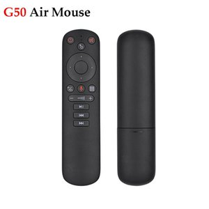 2020 New G50 Air Mouse Google Voice Microphone Gyroscope 2.4G Wireless IR Learning G50S Remote Control for Android Tv Box
