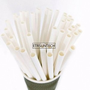 White Paper Strohhalme thickned Durchmesser 6mm / 8mm / 9mm / 10mm Hochzeit Geburtstag Partei Trinkhalm Großhandel ImjW #