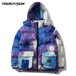 Lindsey Seader Mulit Pockets Красочные камуфляж с капюшоном Parkas Streetwear Harajuku зимняя повседневная хлопковая прокладка толстые куртки пальто 201111