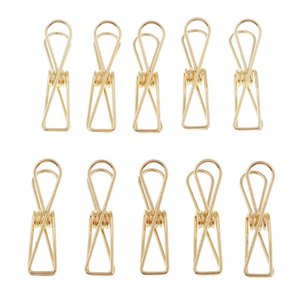 Metallo lunghe clip coda Stationery Office Forniture clip Hollow Filo raccoglitore di carta Pinze (Piccolo, Oro)
