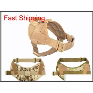 Tactical Dog Portable Light Vest Harness Camouflage Harness For Pet Dogs Patrol Training High Quality S--Xl Ei7M3