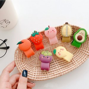 Cute Furit Cable Winder For Mobile Phone USB Charging Data line Earphone Winder Cartoon Cable Organizer Winder Protector Cord