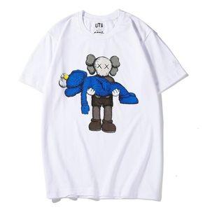 Новые влюбленные рубашки мужчина женщин повседневная футболка с короткими рукавами Uniqlo X KAWS X Seaname Street L модный пальто Одежда Tee Tee