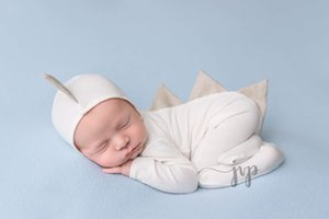 2Cross-border new children photography costume cute baby photo mini seven colors baby dinosaur jumpsuit + hat suit