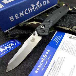 новый BENCHMADE 940 Быстрое открытие складной нож высокой твердости лезвия острыми Тактический складной Открытый кемпинга выживания EDC нож