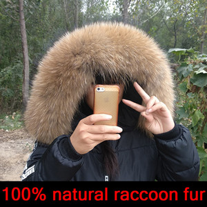 5a Winter Real Natural for Hat High Quality Raccoon Fur Fashion Coat Collar