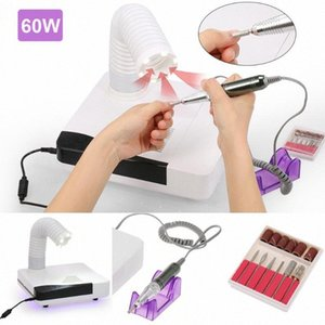 60W Electric Nail Drill Machine & Nail Dust Collector 4 In 1 Tool Dust Collection Trimming Equipment Manicure Tool MMXv#
