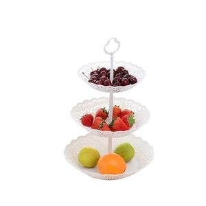 Wedding Snacks 26 X Dessert Tier For And Home Fruit Three Serving Party Basket White 40cm Platter Stand Plate yxlWEs loveshop01