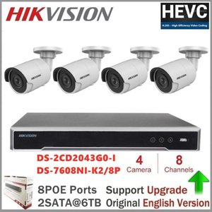 Wireless Camera Kits Hikvision IP Embedded Plug & Play 4K NVR 8CH 8POE 2SATA H.265 + DS-2CD2043G0-I CCTV Security System1