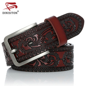 Dinisiton men's leather belt, styling belt, printing belt, ardillon vintage, luxury bracelet, new high-end style, yh918