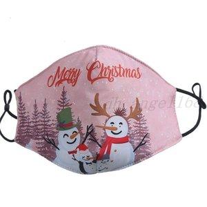 Maske Merry Christmas Santa Sakal Kardan Adam Şanslı Geyik Fahion Yüz Maskeleri Yetişkin Erkek Kızlar 3D Baskı Toz Geçirmez Facemask Ücretsiz Shippingt23