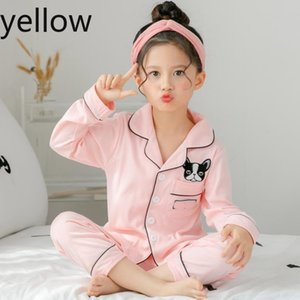 Spring and autumn children˻s long sleeved pajamas suit for kids 100%cottonSilk girls boys household clothes children pajamas Designer