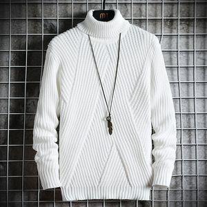 Abbigliamento Turtelneck Maglione Uomo Primavera Autunno Streetwear Giappone Stile casual Harajuku lunga da uomo a maniche