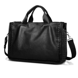 New Business Travel Briefcase Genuine Leather Duffel Bags for Laptop Bag