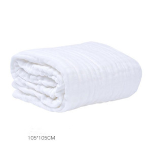 Baby Bath Towel Muslin 6 Capas 100% Toallas de algodón Neonatal Child Color Sólido Absorber Manta Swaddle Wrap Redding 105 * 105 cm GWC5865