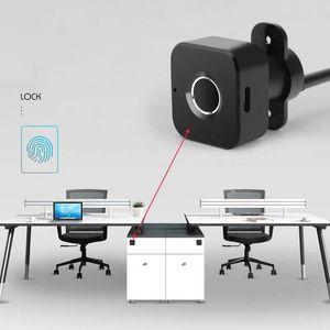 Semiconductor Smart Drawer Lock Smart Cabinet Fingerprint Door Lock Digital Safety Keyless Electric USB Charging Cabinet Lock