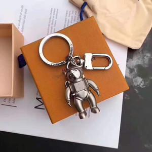 Стильный астронавт ключ цепи дизайнера титановой стали подходит подарочная коробка